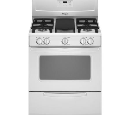 Whirlpool 30 inch Gas Range in White