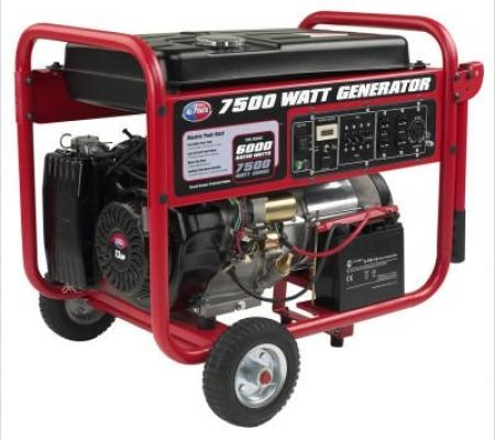 Sigma 8000 Watt Gasoline Generator with Battery & Wheel Kit