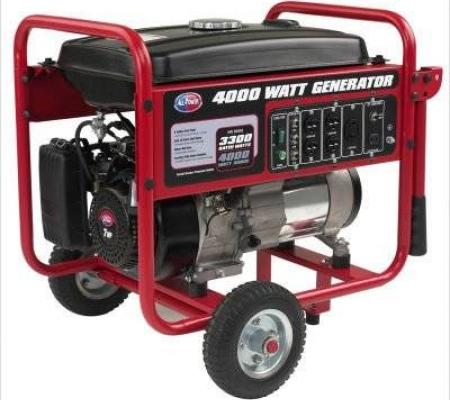 All Power 4000 Watt Gasoline Generator with Battery Wheel Kit