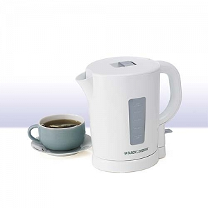 Black & Decker 1.7L Electric Jug Kettle in White
