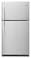 Whirlpool 22.4 cu ft Stainless Steel Top Mount Refrigerator