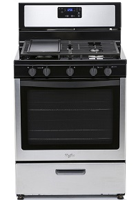 Whirlpool 5-burner Stainless Steel Gas Range