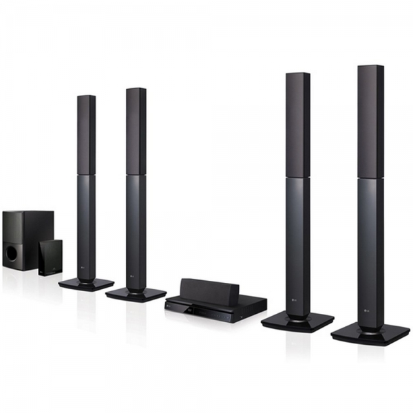LG Bluetooth Multi Region Free 5.1-Channel DVD Home Theater Speaker System